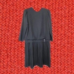 plus size vintage black dress 12 large xl